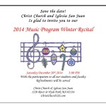 Christmas Music Recital Program
