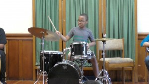Nathanael on drums